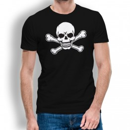 camiseta calavera pirata hombre