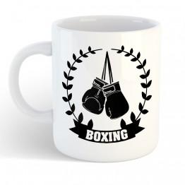 Taza Boxeo laurel negro