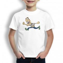 Camiseta Caricatura Running para Niños