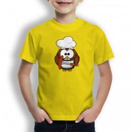 Camiseta Chef Buho para Niños