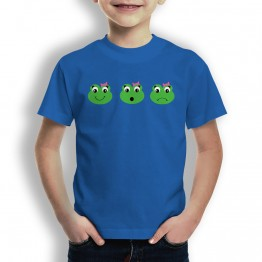 Camiseta Caras de Rana Chica para Niños