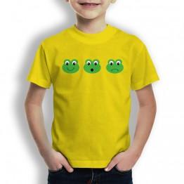 Camiseta Caras de Rana Chico para Niños