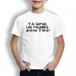 Camiseta somos Los Mejores para Niños La Banda del Capitán Inhumano