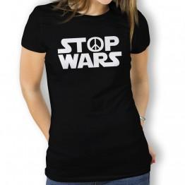 Camiseta Stop Wars para Mujer