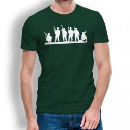 Camiseta Silueta Soldados para Hombre