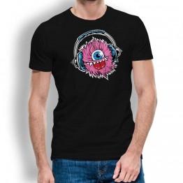 Camiseta Monstruo Cascos Musica para Hombre