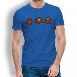 Camiseta Mono Ver Oir y Callar para Hombre