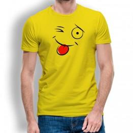 Camiseta Cara Guiño para Hombre