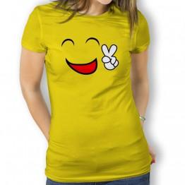 Camiseta Cara Feliz para Mujer