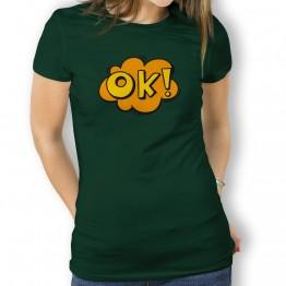 Camiseta Comic OK para Mujer