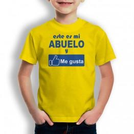Camiseta Abuelo Me Gusta para niños