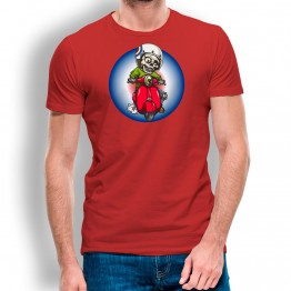 Camiseta Esqueleto con Moto para hombre
