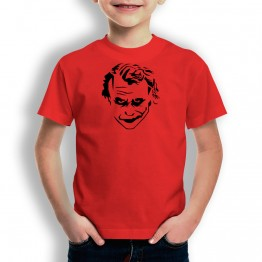 Camiseta Cara del Joker para niños