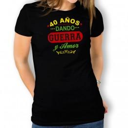 Camiseta Años Dando Guerra para mujer