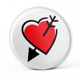 Chapa Corazón y Flecha