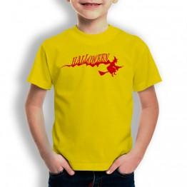 Camiseta Bruja Halloween para niños