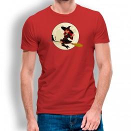Camiseta Bruja y Gato PARA HOMBRE