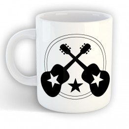 Taza Guitarras Con Estrella