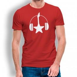 Camiseta Guitarra y Cascos para hombre