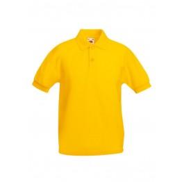 Polo 65/35 Niño Amarillo Girasol