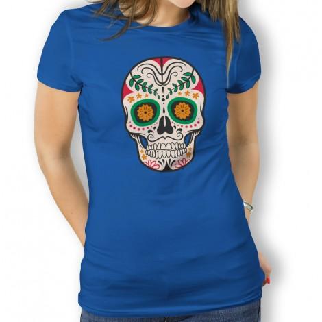 Camiseta para mujer Calavera con Hoja a4dad53aa40