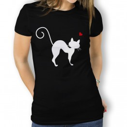 camiseta Gato Curvado mujer