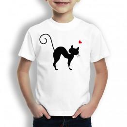 Camiseta Gato Curvado niños