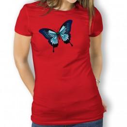 Camiseta Mariposa Azul para Mujer