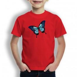 Camiseta Mariposa Azul para Niños