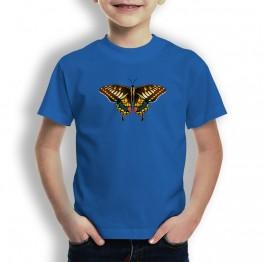 Camiseta Mariposa Marron para niño
