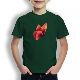 Camiseta Mariposa Naranja para NIÑOS