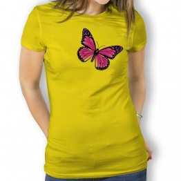 Camiseta Mariposa Rosa para mujer