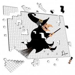 Puzzle bruja con escoba 1000