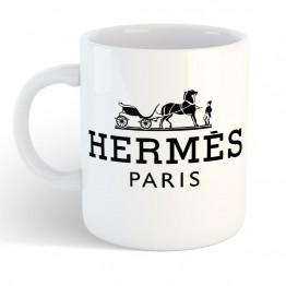Taza Caballo Hermes negro