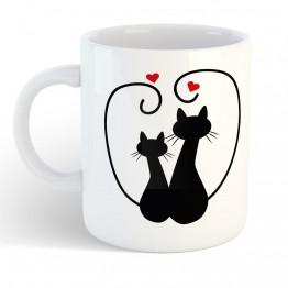 Taza Pareja de gatos