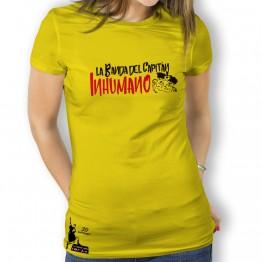 Camiseta mujer amarilla de La Banda del Capitán Inhumano