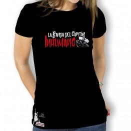 Camiseta mujer negra de La Banda del Capitán Inhumano