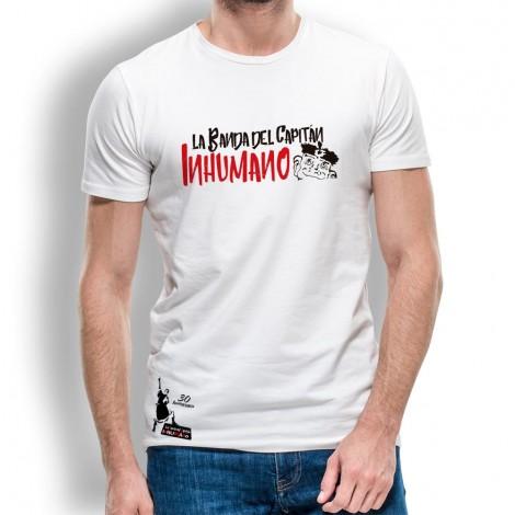 Camiseta hombre blanca de La Banda del Capitán Inhumano