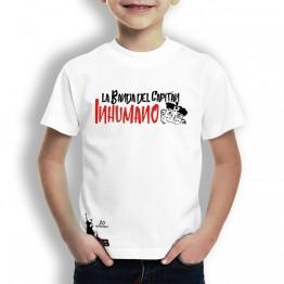 Camiseta niños blanca de La Banda del Capitán Inhumano