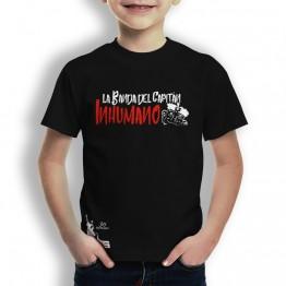 Camiseta niños negra de La Banda del Capitán Inhumano