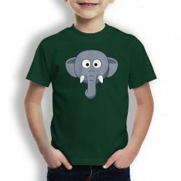 Camiseta Cabeza de Elefante para Niños