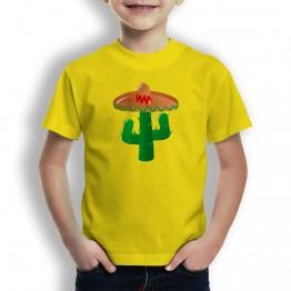 Camiseta Cactus con Sombrero para Niños