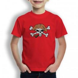 Camiseta Calavera Pirata Pipa para Niños