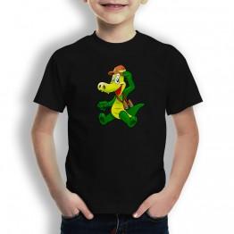 Camiseta Cocodrilo Aventurero para Niños