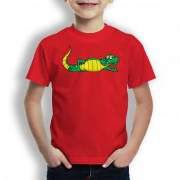 Camiseta Cocodrilo Relajado para Niños