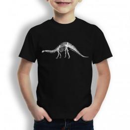 Camiseta Esqueleto Dinosaurio para Niños