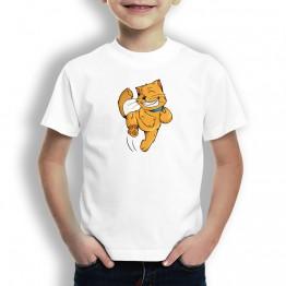 Camiseta Gato Feliz para Niños