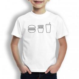 Camiseta Menu Burger para Niños