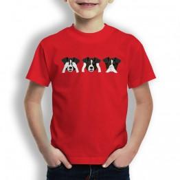 Camiseta Perro Ver Oir y Callar para Niños