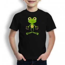 Camiseta Rana Cartoon para Niños